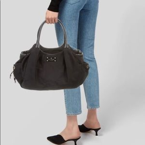 Kate Spade Stevie Patent Leather-Trim Baby Bag